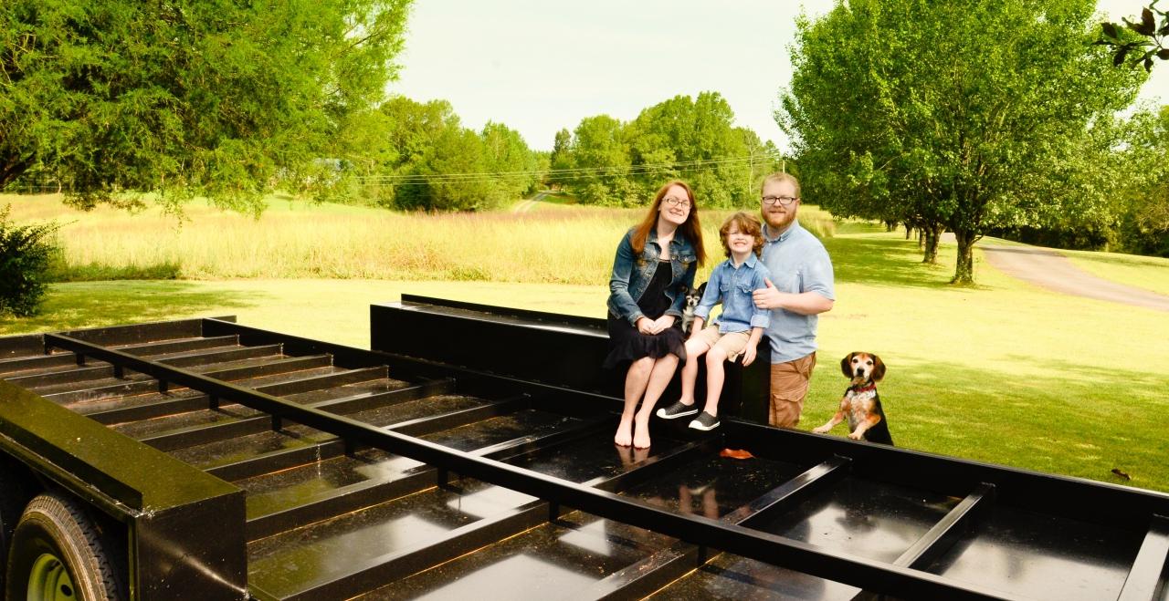 Family Portrait on Trailer